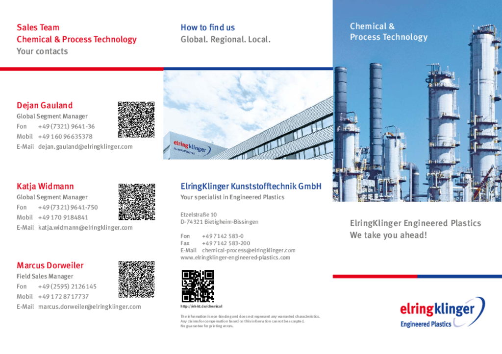 [Translate to Japanisch - 日本人:] Flyer Chemical and Process Technology